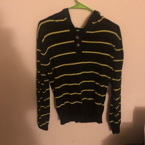 Other - Mens Black & Yellow Hoodie